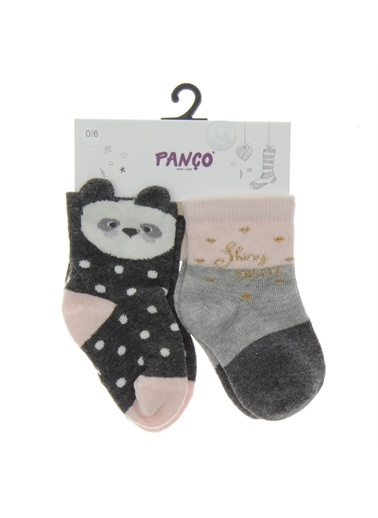 Panço Kız Bebek 2 li Çorap 18236020108 Renksiz